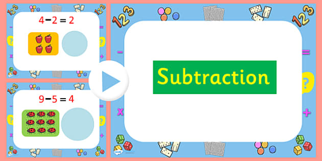 Subtraction PowerPoint - numeracy, numbers, powerpoint, subtraction, subtraction, subtraction activity powerpoint, subtraction questions powerpoint, subtracting, maths, maths powerpoint, minusing