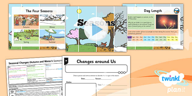 PlanIt - Science Year 1 - Seasonal Changes (Autumn and Winter) Lesson 1: Seasons Lesson Pack - planit