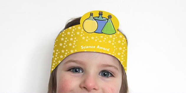 Science Award Headband - science, science awards, awards, rewards