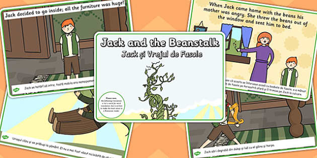Jack and the Beanstalk Story EAL Romanian Translation - stories