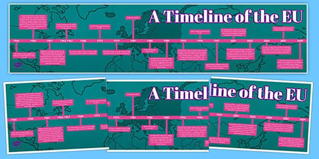 European Union Timeline - european union, referendum, european, union