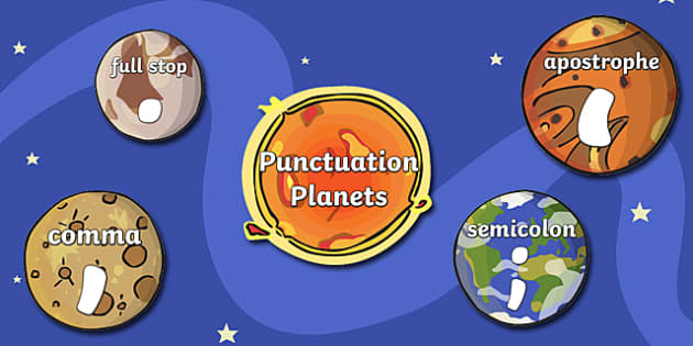 Punctuation Plants Space Display - punctuation, punctuation display, classroom display, themed display, visual aid, punctuation aid, space display, display