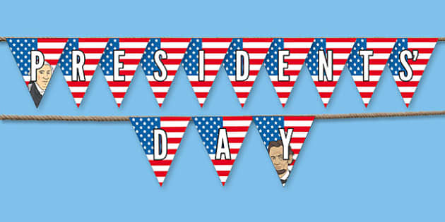 Presidents' Day Bunting - usa, presidents day, celebration, federal, bunting, display