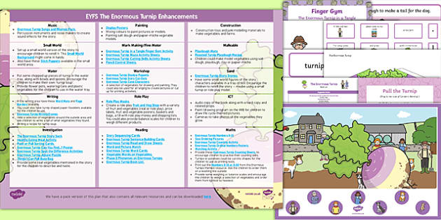 EYFS The Enormous Turnip Enhancement Ideas and Resources Pack - Early Years, continuous provision, early years planning, adult led, fairy tales, traditional tales, vegetables