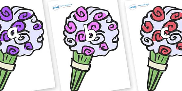 Phase 2 Phonemes on Bouquets - Phonemes, phoneme, Phase 2, Phase two, Foundation, Literacy, Letters and Sounds, DfES, display