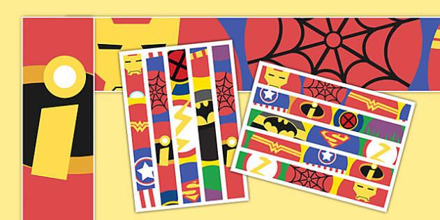 Superhero Pattern Display Borders