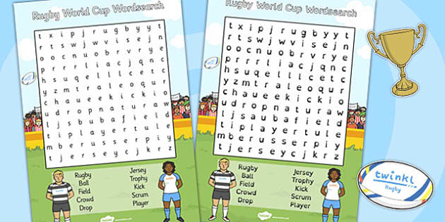 Rugby World Cup Wordsearch - rugby, world cup, wordsearch, cup