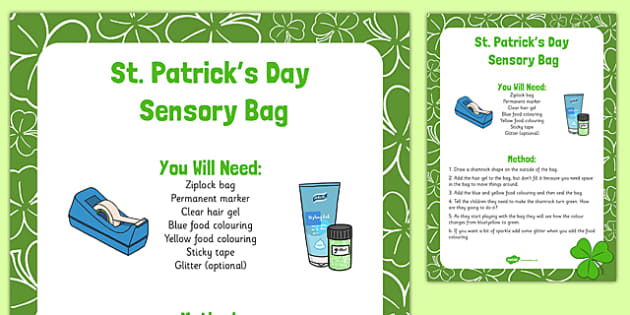 St. Patrick's Day Sensory Bag - St Patricks Day, sensory bag, sensory, bag