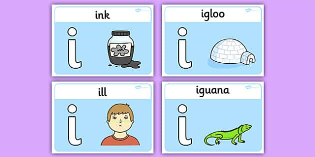 Initial I Sound Playdough Mats - initial I, sound, playdough mats, playdough, mats