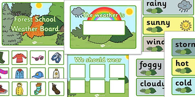 Forest School Weather Board - forest, school, weather, board