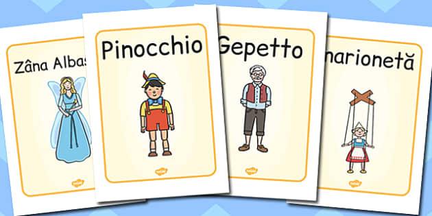 Pinocchio - Planșe cu imagini și cuvinte