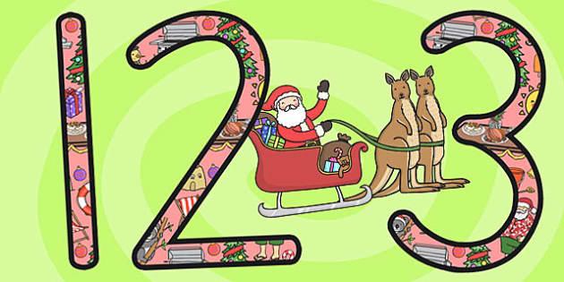 Christmas Display Numbers (Australia) - number, displays, visual