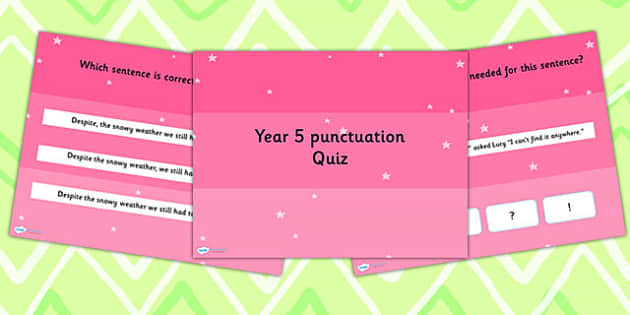 Year 5 Punctuation PowerPoint Quiz - year 5, punctuation, quiz
