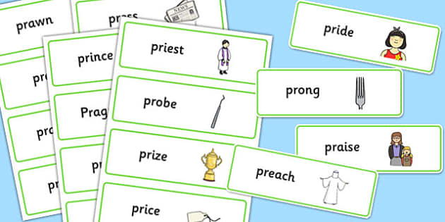 PR Sound Word Cards - sen, sound, pr sound, pr, sen, word cards, word, cards
