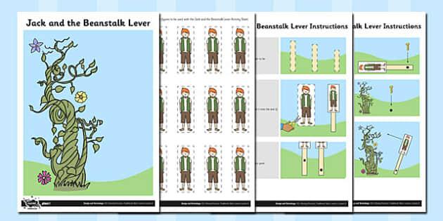 Activity Sheet Jack and the Beanstalk Lever - activity, lever, jack, worksheet