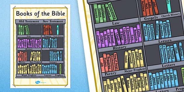 Books of the Bible Display Poster - display poster, display, books, bible