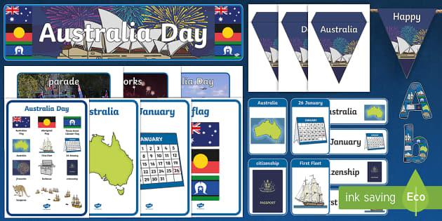 Australia Day Display Pack - australia, day, display pack, pack