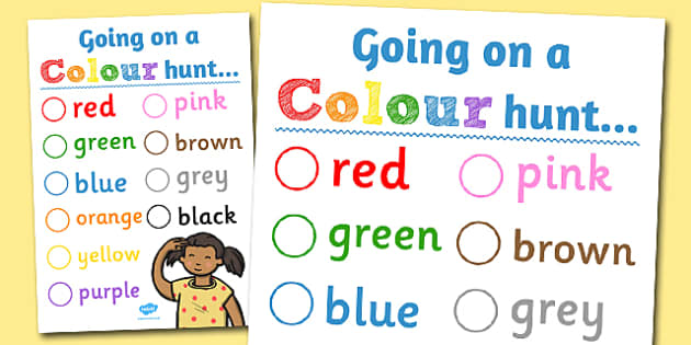 Colour Hunt Worksheet - colour, hunt, worksheet, activity, search