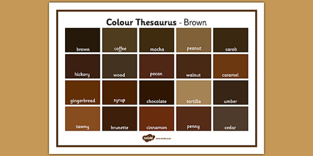 Colour Thesaurus Word Mat Brown - colour thesaurus, colour, thesaurus, word mat, word, mat, brown