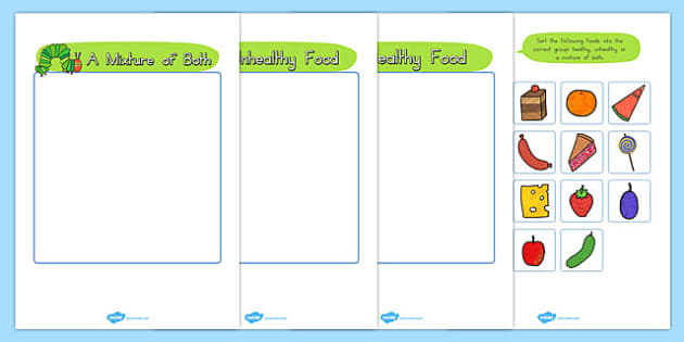 T T 4021 The Very Hungry Caterpillar Healthy Eating Sorting Game on Jonah And The Big Fish Story Sequencing