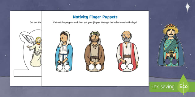 The Nativity Finger Puppets