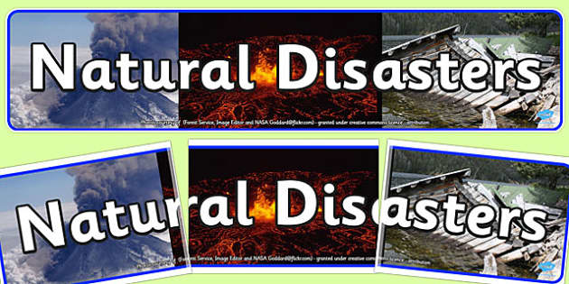 Natural Disasters Display Banner - display, banner, natural