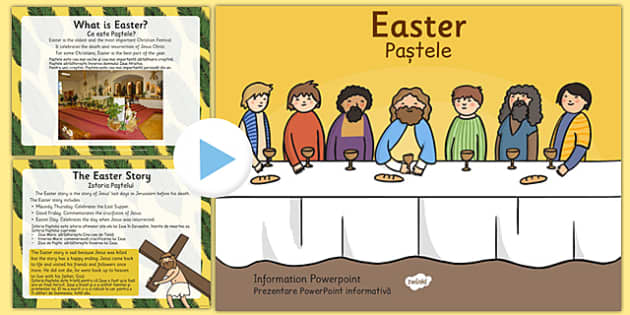 Easter Information PowerPoint Romanian Translation - romanian, easter, info, religion, RE, ppt