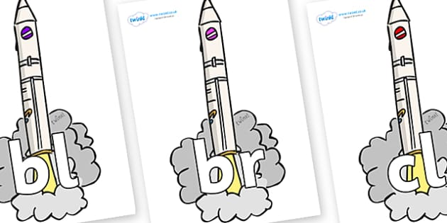 Initial Letter Blends on Launching Rockets - Initial Letters, initial letter, letter blend, letter blends, consonant, consonants, digraph, trigraph, literacy, alphabet, letters, foundation stage literacy