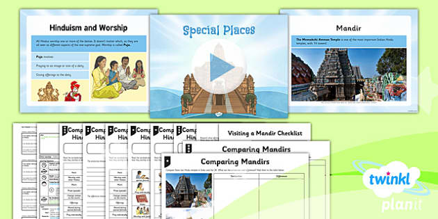 PlanIt - RE Year 3 - Hinduism Lesson 3: Special Places Lesson Pack - hinduism, mandir, pandit, aarti, puja