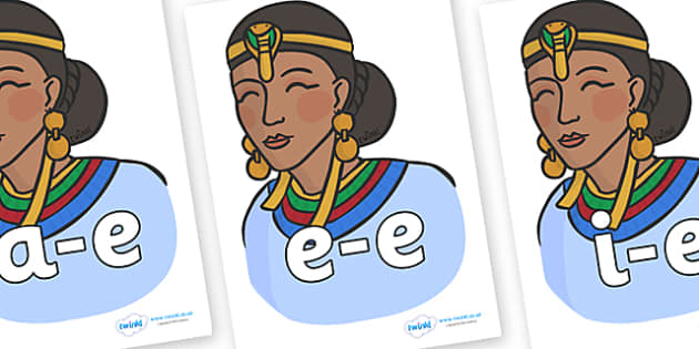 Modifying E Letters on Egyptian Women - Modifying E, letters, modify, Phase 5, Phase five, alternative spellings for phonemes, DfES letters and Sounds