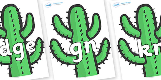 Silent Letters on Cactus - Silent Letters, silent letter, letter blend, consonant, consonants, digraph, trigraph, A-Z letters, literacy, alphabet, letters, alternative sounds