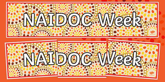 NAIDOC Week Display Banner Display Banner