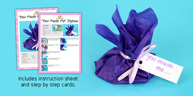 You Made Me Jigsaw Craft Instructions - craft, instructions