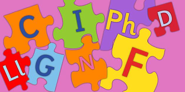 Large Welsh Alphabet Jigsaw - large, welsh, alphabet, jigsaw, activity, puzzle