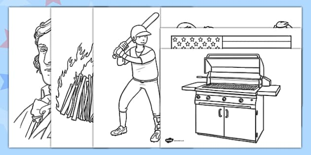 Independence Day Coloring Pages - independence day, coloring