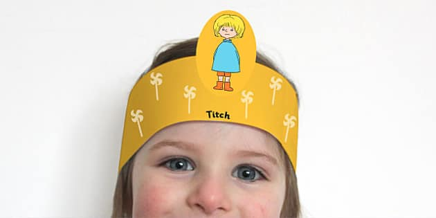 Role Play Headband to Support Teaching on Titch - roleplay, props, stories, books