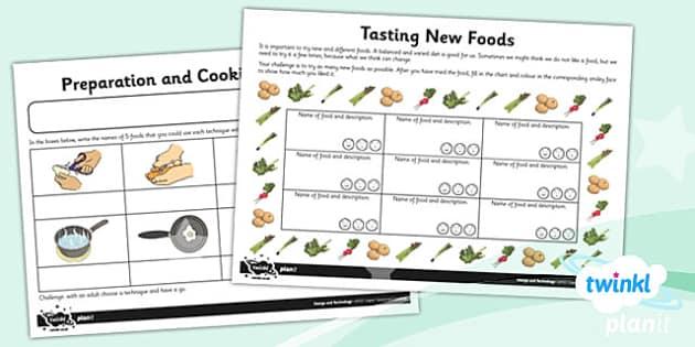 PlanIt - D&T UKS2 - Super Seasonal Cooking Unit Home Learning Tasks