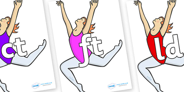 Final Letter Blends on Ballet Dancers - Final Letters, final letter, letter blend, letter blends, consonant, consonants, digraph, trigraph, literacy, alphabet, letters, foundation stage literacy