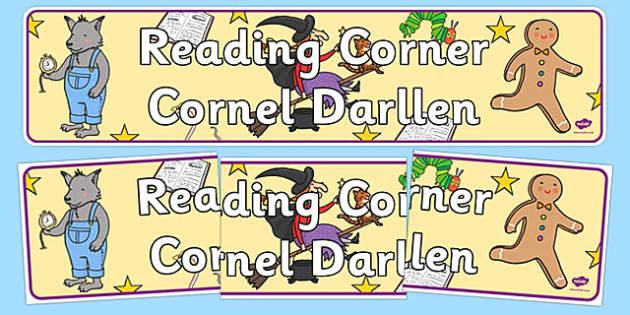 Reading Corner Display Banner Welsh Translation - welsh, cymraeg, Foundation Phase, Reading Corner, Display Banner
