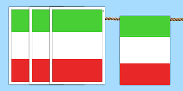 Italy A4 Flag Bunting - countries, geography, flags, country