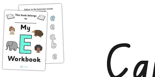 My Workbook E uppercase - letter formation, fine motor skills