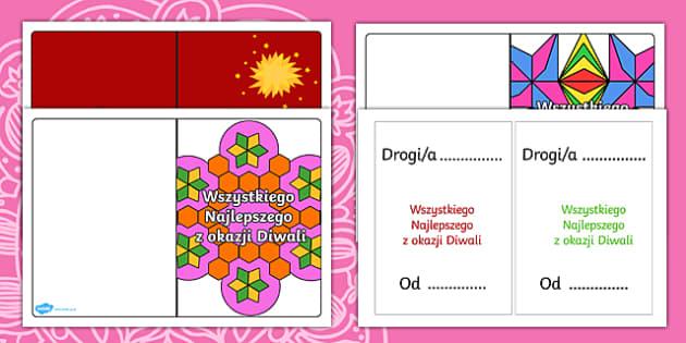 Kartki z okazji święta Diwali
