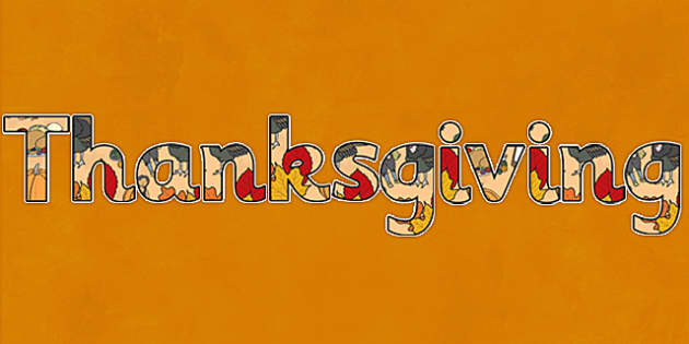 Thanksgiving Display Lettering - thanksgiving, display, lettering