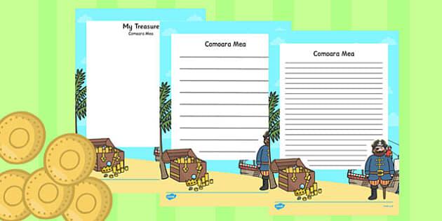 Comoara mea - Pagini de scriere