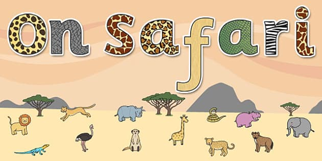 'On Safari' Display Lettering - safari, safari lettering, on safari lettering, safari display lettering, on safari display words, safari letters