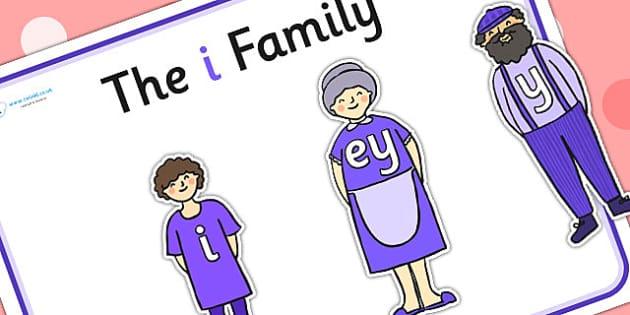 I Sound Family Cut Outs - sound families, sounds, cutouts, cut