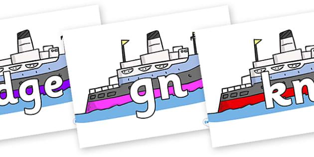 Silent Letters on Boats - Silent Letters, silent letter, letter blend, consonant, consonants, digraph, trigraph, A-Z letters, literacy, alphabet, letters, alternative sounds