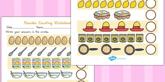Pancake Counting Sheet - australia, pancake, counting, sheet