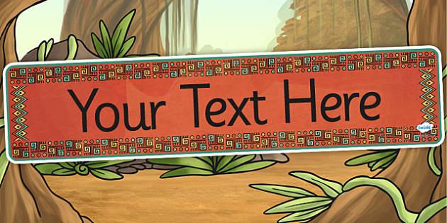 Mayan Civilization Themed Editable Banner Template - mayans
