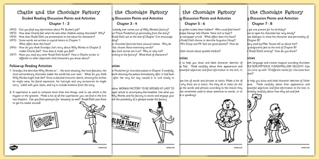 Charlie And The Chocolate Factory Comprehension Questions Pdf